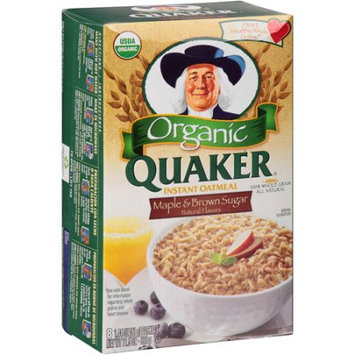 Quaker® Organic Instant Oatmeal Maple And Brown Sugar