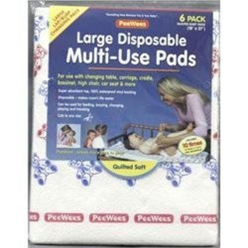 Continental Quilting PeeWees Disposable Multi-Use Pads - Large 6 pk.