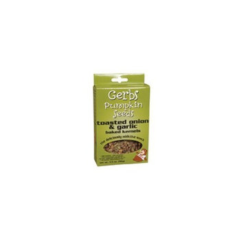 Gerbs Pumpkin Seed Onion & Garlic Pumpkin Seeds, Gluten-Free 3.5 oz. (Pack of 12) ( Value Bulk Multi-pack)