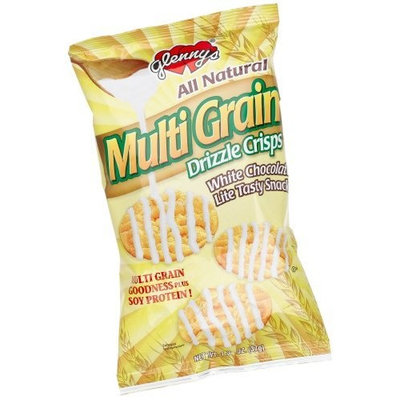 Glenn Foods Glenny's Multi Grain Drizzle Crisps, White Chocolate , 1.3-Ounce Bags (Pack of 24)