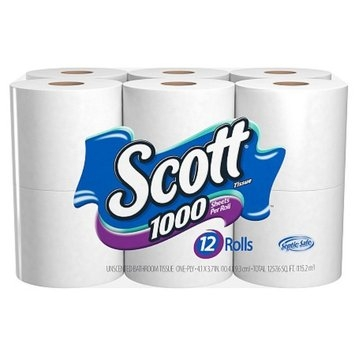 Scott Bathroom Tissue Unscented 12 Rolls
