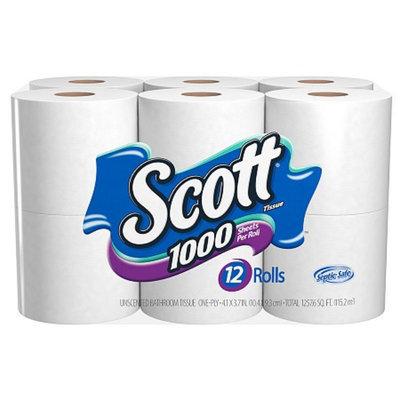 Scott Bathroom Tissue Unscented 12 Rolls