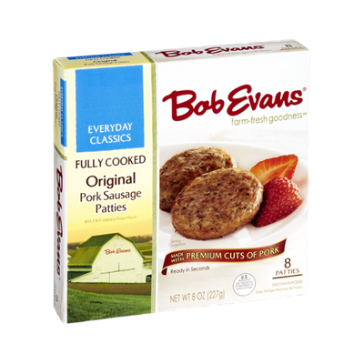 Bob Evans Fully Cooked Original Pork Sausage Patties - 8 CT