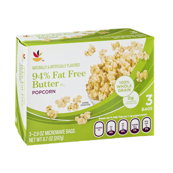 Ahold 94% Fat Free Butter Popcorn - 3 CT