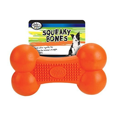 Four Paws Squeaky Bones Rubber Toy