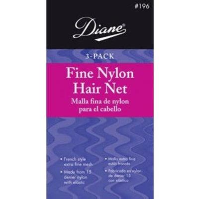 Diane Fine Nylon Hair Nets - Black (3 Pack)