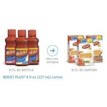 Nestlé BOOST Plus Supplement 8 oz Brick packs Strawberry Case: 24