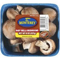 Monterey Mushrooms Monterey Baby Bella Mushrooms, 8 oz