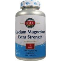 Kal Extra Strength Calcium + Magnesium 100 Tablets