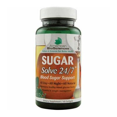 American Bio-Sciences SUGAR Solve 24-7 60 Softgels