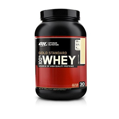 Optimum Nutrition 100% Whey Gold Standard, Vanilla Ice Cream, 2 Pound
