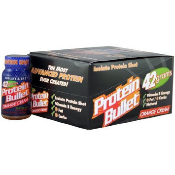 Bullet Nutrition Protein, Orange Cream, 12-Count