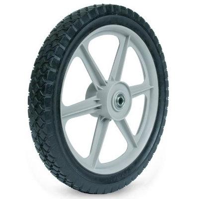Martin Wheel PLSP14D175 14 by 1.75-Inch Plastic Spoke Semi-Pneumatic Wheel for Lawn Mower, 1/2-Inch Ball Bearing, 2-3/8-Inch Centered Hub, Diamond Tread