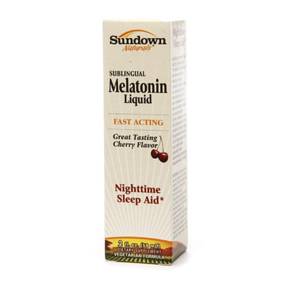 Sundown Naturals Sublingual Melatonin Liquid