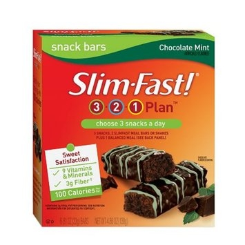 Slim-Fast 3-2-1 Plan 100 Calorie Snack Bars 6-Pack