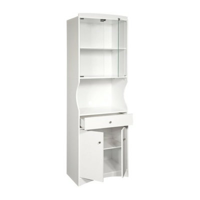 Home Source Industries Microwave Cart: Microwave Cabinet - White