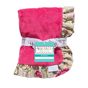Trend Lab Llc Waverly Baby Jazzberry Receiving Blanket - Ruffle Trimmed