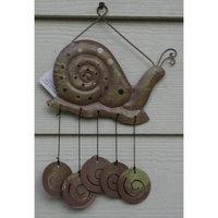 Greenbriar International Metal Snail Windchime 12.5
