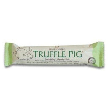 Hagensborg Chocolates Truffle Pig Bar Dark Mint Chocolate Chip, 1.76 Ounce (Pack of 24)