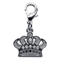 Mirage Dog Supplies Lobster Claw Crown Charm Clear