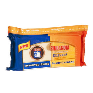 Finlandia Cheese Deli Slices Imported Swiss and Sharp Cheddar All Natural