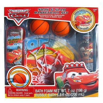 mzb Disney Cars Bath Set (Soak & Slam Basketball Set)
