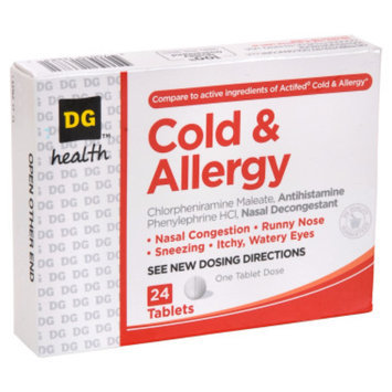 DG Health Cold and Allergy Tablets - 24 ct