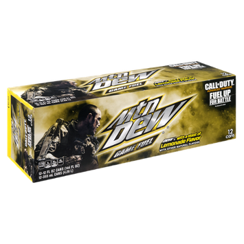 Mtn Dew Game Fuel Lemonade - 12 CT