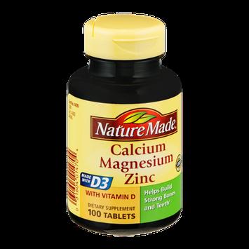 Nature Made Calcium Magnesium Zinc Tablets - 100 CT