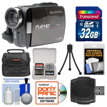 Bell & Howell DV5HDZ ZoomTouch 1080p HD High Definition Digital Video Camcorder & Case with 32GB Card + Case + Flex Tripod + Kit