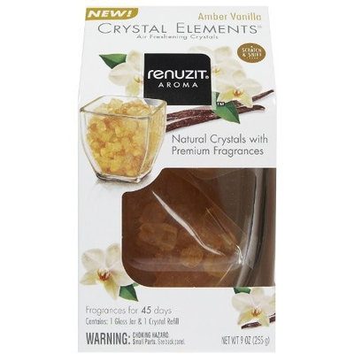 Dial Renuzit Crystal Elements Air Freshener Starter Kit-Amber Vanilla-9 oz.