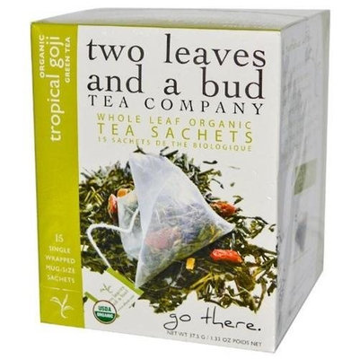 Two Leaves and a Bud Whole Life Organic Tea Sachets, 15-Count Boxes (Pack of 6)