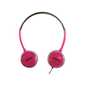 Sentry HO303 Headart Extreme Folding Earphones, Pink