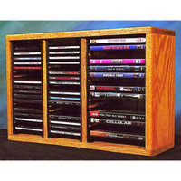 Wood Shed Desktop Combination Rack w Individual Locking Slots (Clear)