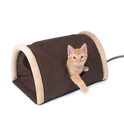 K & H Manufacturing Outdoor Heated Kitty Camper with Heated Pad