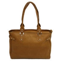 Piel Leather 17 in. Large Ladies Tote w Side Strap in Apple