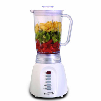 Brentwood Appliances Brentwood 6-Speed Blender Plastic Jar - White JB-206