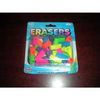 Inc 40-Pack Neon Cap Erasers - Pencil Toppers