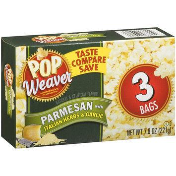 Pop Weaver Parmesan with Italian Herbs & Garlic Microwave Popcorn., 3 ct, 7.8 oz