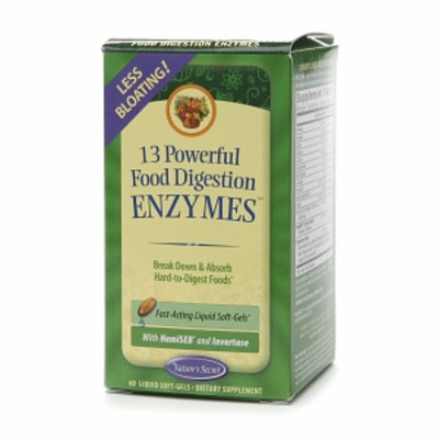 Nature's Secret 13 Powerful Food Digestion Enzymes