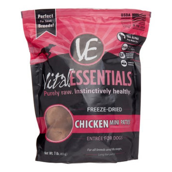 Vital Essentials Canne Freeze Dried Mini Pet Chicken Patties Entree 16.5-oz bag