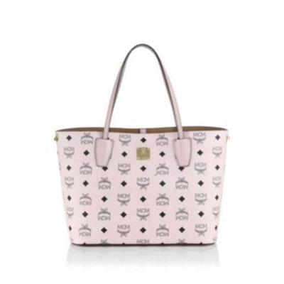 MCM Shopper Project Visetos Small Coated Canvas Tote