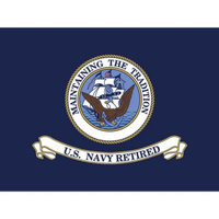 Annin Armed Forces Flag-US Navy Retired - 3' x 4'
