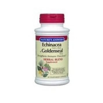 NATURE'S ANSWER, Echinacea-Goldenseal - 180 vegicaps