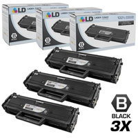 LD Compatible Replacements for Dell 331-7335 (HF442) Set of 3 Black Laser Toner Cartridges for use in Dell Laser B1163w, B1165nfw, Multi-Function B1160, and B1160W Printers