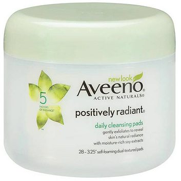 Aveeno (R) Positively Radiant(R) Daily Cleansing Pads Jar Cleansers 28 Ct