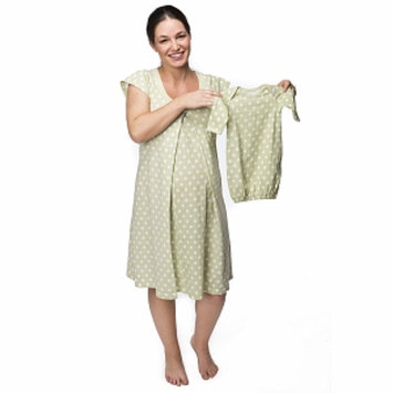 Baby Be Mine Charlotte Nursing NightGown with Romper, Green, Large, 1 ea