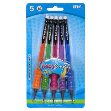 INC Soft Grip Mechanical Pencils - 0.7mm, 5 pack