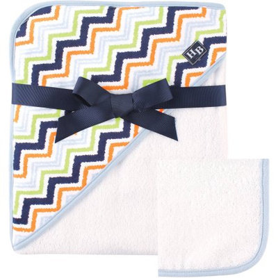 Baby Vision Hudson Baby Print Hooded Towel - Chevron