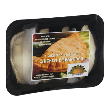 Deep Pockets Chicken Empanadas Caribbean Seasoned - 4 CT